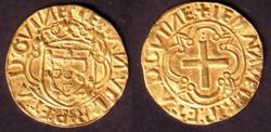 Cruzado (Portuguese golden coin,15th c. )