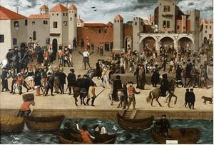 Repairs at Chafariz d'el rey, Lx (Anonym, 1570-1580, Col Berardo)